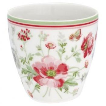 "Becher - Mini Latte cup ""Meadow white"" von GreenGate, Espresso"