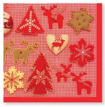 weihnachts servietten mit nordischem muster advent. Black Bedroom Furniture Sets. Home Design Ideas