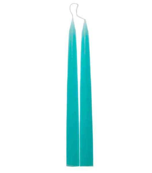 lange d nische spitzkerzen leuchterkerzen 32 cm t rkis kerzen online. Black Bedroom Furniture Sets. Home Design Ideas