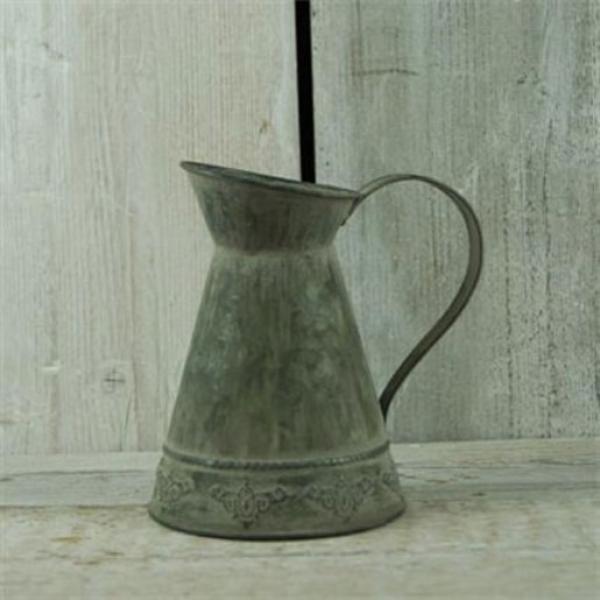 Nostalgischer Zink-Krug Im Landhausstil Als Vase Oder Deko